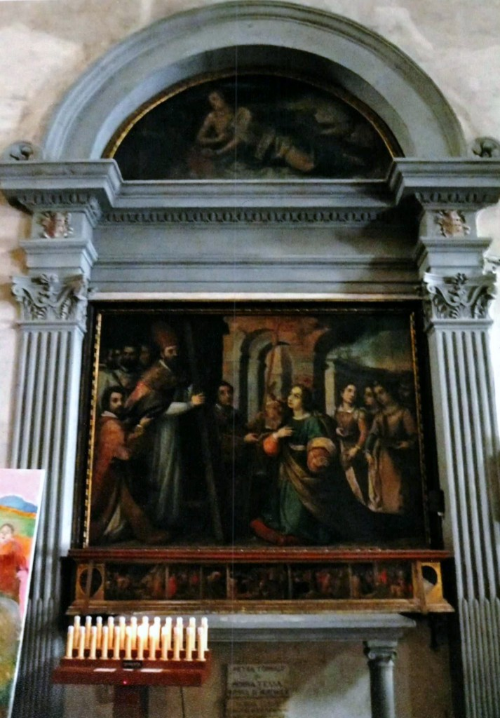 Narrative of St Margaret's life on predella (below the large, main painting), Santa Margherita dei Cerchi