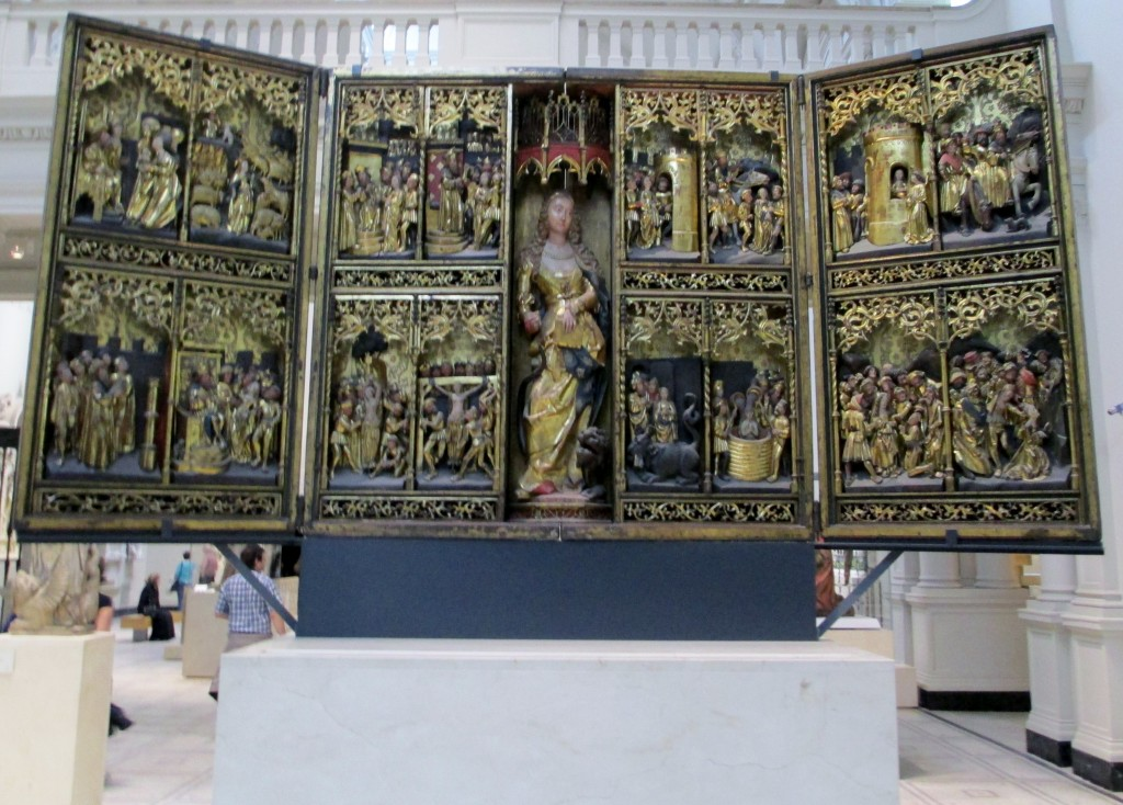 The St Margaret Altarpiece, Northern Germany (early 16th century), now at the Victoria & Albert Museum in London